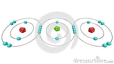 Carbon Dioxide CO2 - Atomic Diagram