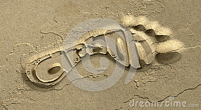 Carbon Footprint In The Sand