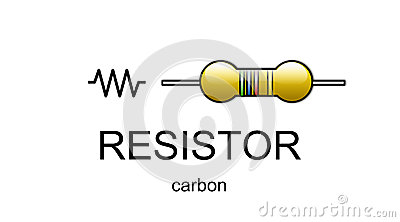 Carbon resistor icon and symbol