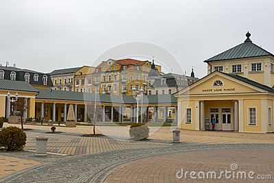 Carbonic Gas Spa Bath in spa resort Frantiskovy La Editorial Stock Image