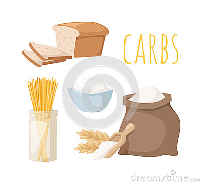 Free Carbs Food Vector Illustration. Stock Images - 71456814