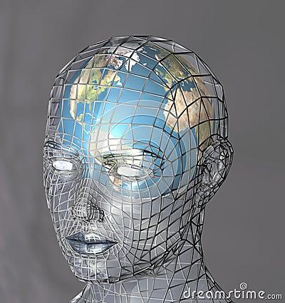 Carcaça principal um globo