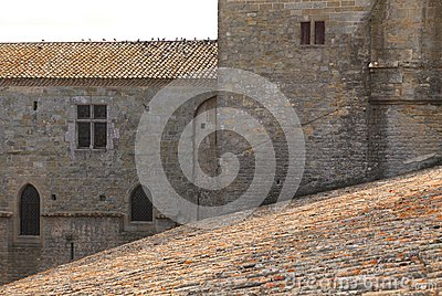 Carcassonne-architecture abstract