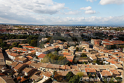 Carcassonne-d niedrige Stadt
