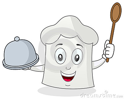 Carácter divertido del sombrero del cocinero