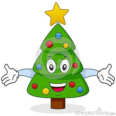 Carácter feliz del árbol de navidad