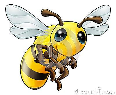 Carácter lindo de la abeja