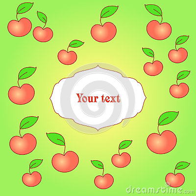 Card with apple background