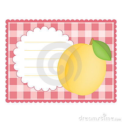 Card with apricot