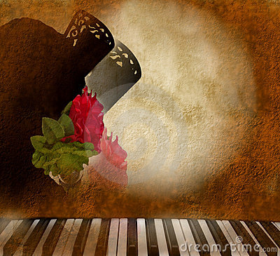 Card background Andalusian flamenco singer woman