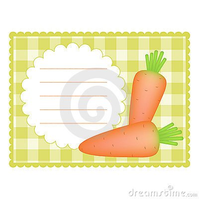 Card with carrots