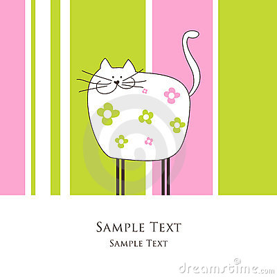 Card with cat