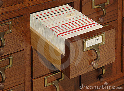 Card Catalog File Drawer