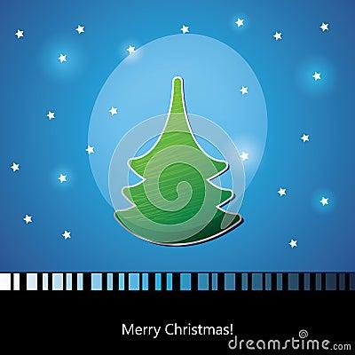 Card with Christmas tree