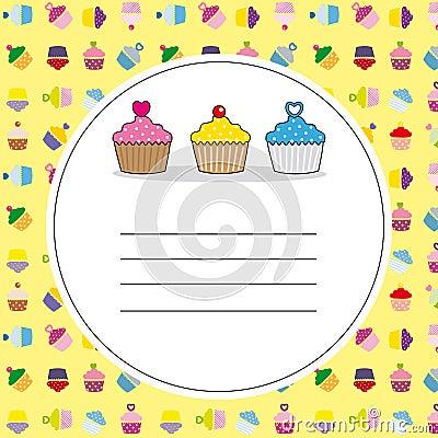Card delicious cupcakes