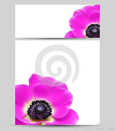 Card design template flower layouts