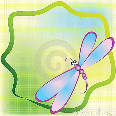 Card with dragonfly