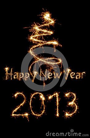 Card för året 2013 som skrivs med sparkles