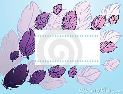 Card with feather