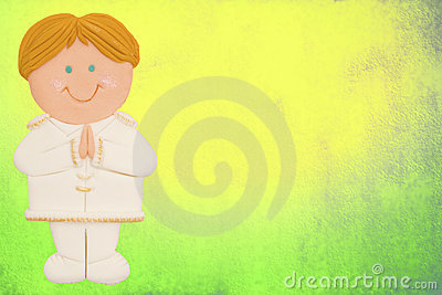 card, first communion,boy