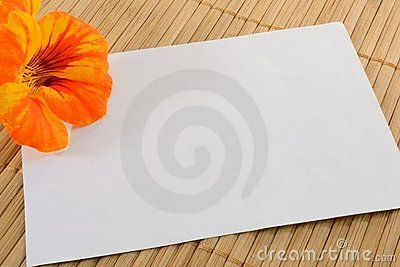 Card and flower