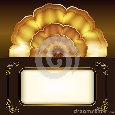 Card with gold flower.