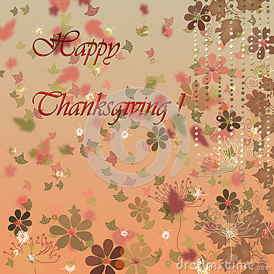 Card for happy thanksgiving day