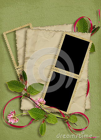 Card for the holiday on the abstract background