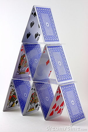 Card House Stock Image Image 5404051