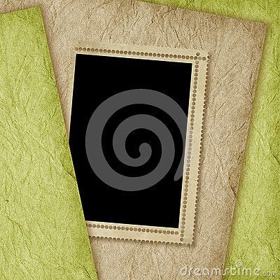Card for invitation on the abstract background