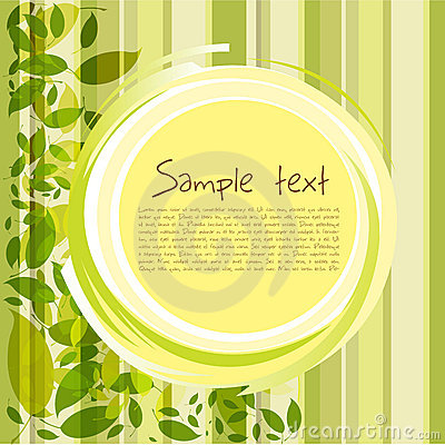 Card with leaves and sample text