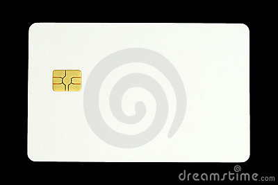 Card with microchip