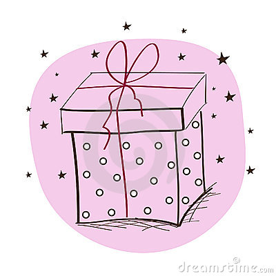 Card with present