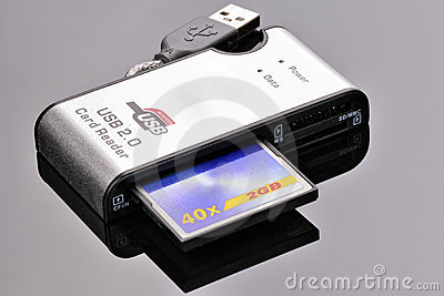 Card reader with CF card