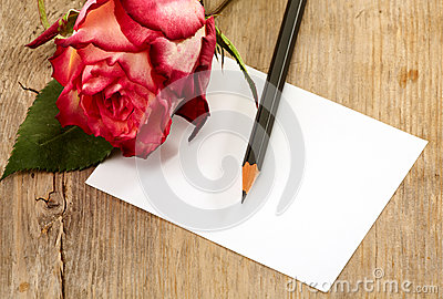 Card and rose