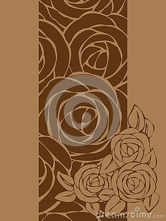 Card with roses.