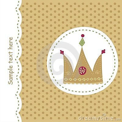 Card with royal crown
