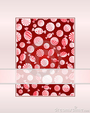 Card with seamless candy pattern