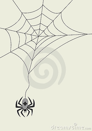 card with spider and cobweb