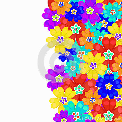 Free Card Spring Primroses Primula Flowers. Vector Illustration Stock Image - 78042801