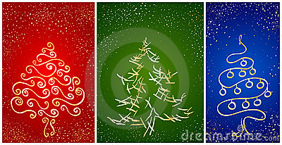 Card with stylization New Year tree