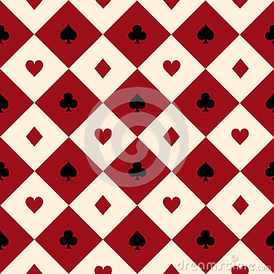 Free Card Suits Red Burgundy Cream Beige Black White Chess Board Diamond Background Royalty Free Stock Images - 76599039
