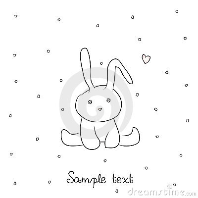 Card with sweet little bunny