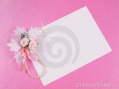 Card for text and weddings accessories