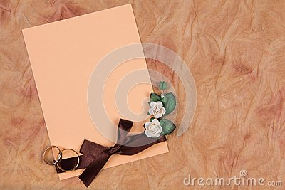 Card for text and weddings rings