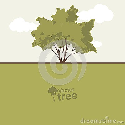 Card with tree and text