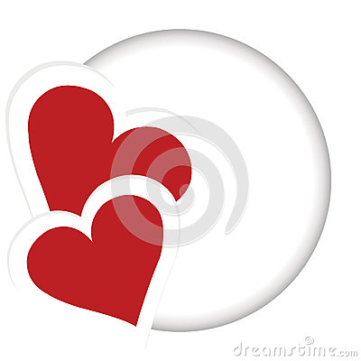 Card with two heart and place for your text