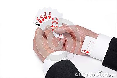 Card up a sleeve