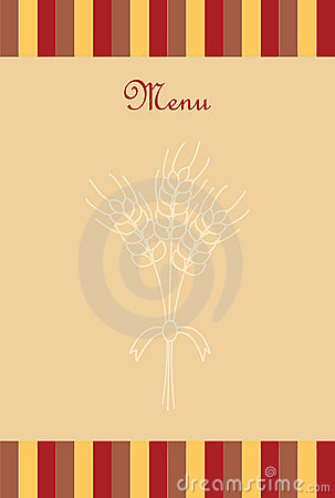 Card with wheat