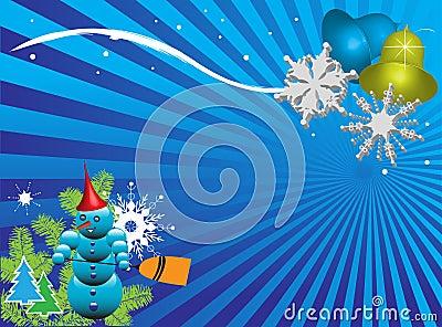 Card for the winter season